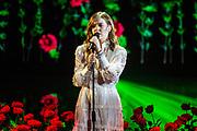 Tweede liveshow van het tiende seizoenThe voice of Holland .<br /> <br /> Op de foto: Emma Boertien