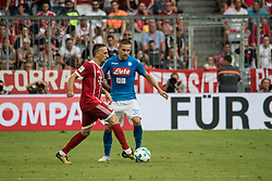 August 2, 2017 - Munich, Germany - Frank Ribery (L) of Bayern Munich in action against Marko Rog of SSC Napoli during the Audi Cup soccer match between FC Bayern Munich and SSC Napoli at the Allianz Arena in Munich, Germany on August 02, 2017. (Credit Image: © Paolo Manzo/NurPhoto via ZUMA Press)