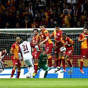 Galatasaray's Tebily Didier Yves Drogba (2ndR) during their Turkish Superleague soccer match Galatasaray between SB Elazigspor at the AliSamiYen Spor Kompleksi at Aslantepe in Istanbul Turkey on Friday 19 April 2013. Photo by TURKPIX