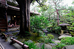 Nomura Samurai Family House garden in Nagamachi district of Kanazawa Japan