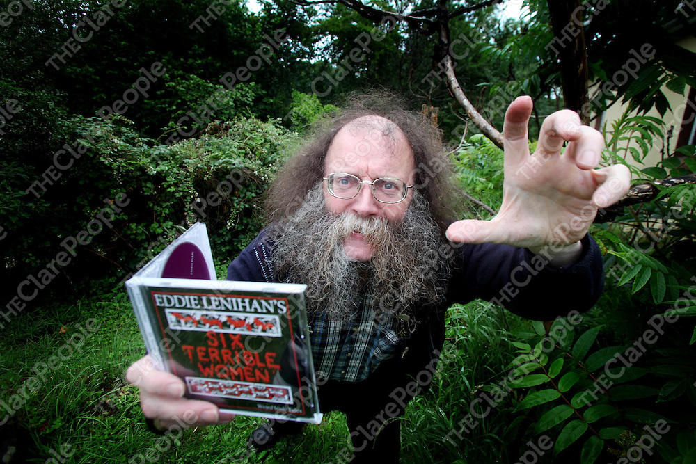 """Storyteller Eddie Lenihan pictured at home in Crusheen, Clare on Saturday as he launched his new CD """"Six Terrible Women"""", a CD of 7 stories of 6 of the most notorious women from Irish Folklore.<br /> Pic. Brian Arthur/ Press 22."""
