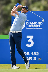 January 19, 2019 - Lake Buena Vista, FL, U.S. - LAKE BUENA VISTA, FL - JANUARY 19: Mardy Fish tees off on hole 3 during the third round of the Diamond Resorts Tournament of Champions on January 19, 2019, at Tranquilo Golf Course at Fours Seasons Orlando in Lake Buena Vista, FL. (Photo by Roy K. Miller/Icon Sportswire) (Credit Image: © Roy K. Miller/Icon SMI via ZUMA Press)