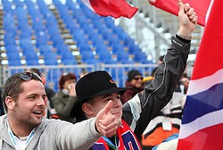 Fan of Norway at e.on Ruhrgas FIS World Cup Ski Jumping on K215 ski flying hill, on March 14, 2008 in Planica, Slovenia . (Photo by Vid Ponikvar / Sportal Images)./ Sportida)