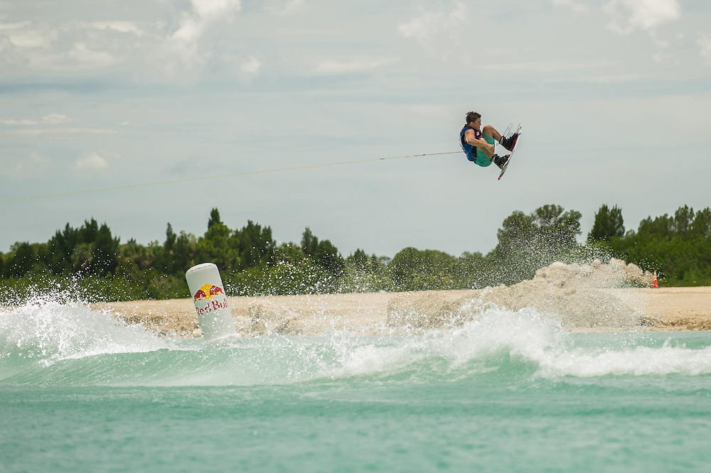Steel Lafferty performs at the Red Bull Wake Open in Tampa Bay, Florida, USA on July 7, 2012