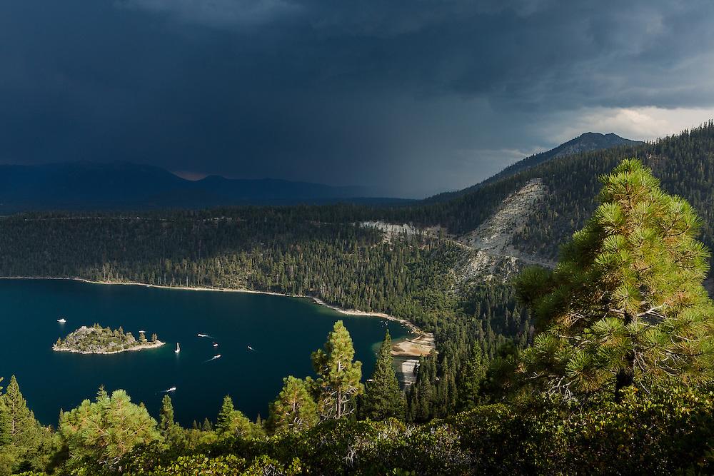 Emerald Bay.  Lake Tahoe Basin.  California/Nevada.  August, 2016.