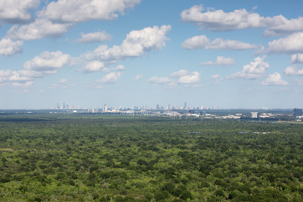 Houston skyline from a distance