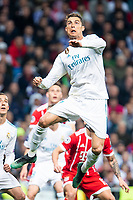 Real Madrid Cristiano Ronaldo during Semi Finals UEFA Champions League match between Real Madrid and Bayern Munich at Santiago Bernabeu Stadium in Madrid, Spain. May 01, 2018. (ALTERPHOTOS/Borja B.Hojas)