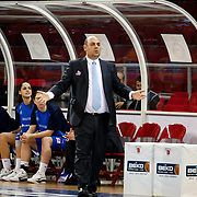 Halcon Avenida's coach Lucas MONDELO during their woman Euroleague group C matchday 9 Galatasaray between Halcon Avenida at the Abdi Ipekci Arena in Istanbul at Turkey on Wednesday, January 12 2011. Photo by TURKPIX