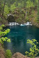 Tamolitch Falls, or Blue Pool, McKenzie River Oregon