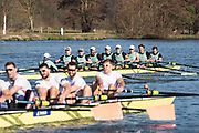 Henley on Thames, UK, 17th February 2019,  Pre Boat Race Fixture,  Cambridge University Blue Boat and Reserve, Goldie, Race over Henley Reach, Two crews from Leander Club, Rowing at two, James CRACKNELL, England, [Mandatory Credit/ Peter SPURRIER/Intersport Images]