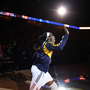 Chiney Ogwumike, Connecticut Sun, is introduced to the crowd before the start of the game during the Connecticut Sun Vs Seattle Storm WNBA regular season game at Mohegan Sun Arena, Uncasville, Connecticut, USA. 23rd May 2014. Photo Tim Clayton
