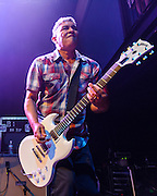"""WASHINGTON, DC - May 5th, 2014 - Pat Smear of the Foo Fighters performs at the 9:30 Club in Washington D.C. as part of the birthday celebration for Big Tony of Trouble Funk.  The band performed as surprise guests and played a set full of hits such as """"My Hero"""" and """"These Days."""" (Photo by Kyle Gustafson / For The Washington Post)"""