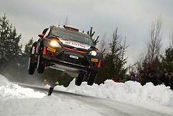 12.02.2015, Raga, Karlstad, SWE, FIA, WRC, Schweden Rallye, im Bild Robert Kubica/Maciej Szczepaniak (RK M-Sport WRT/Fiesta RS WRC) // during the WRC Sweden Rallye at the Raga in Karlstad, Sweden on 2015/02/12. EXPA Pictures © 2015, PhotoCredit: EXPA/ Eibner-Pressefoto/ Bermel<br /> <br /> *****ATTENTION - OUT of GER*****