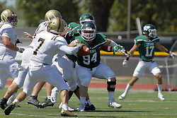 09 September 2017:  Justin Krzeczkowski during an NCAA division 3 football game between the Nebraska Wesleyan PRAIRIE WOLVES and the Illinois Wesleyan Titans in Tucci Stadium on Wilder Field, Bloomington IL