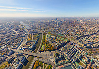 Aerial view of Moscow cityscape, Russia