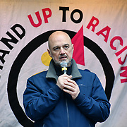 Stand Up To Racism continue rally of a UN Anti-Racism Day Demonstration and march of  the horrific Islamophobic terrorist attack on a mosque in Christchurch, New Zealand, that has left 49 dead on 16 March 2019, opposite Downing Street, London, UK.