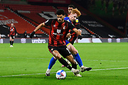 Dominic Solanke (9) of AFC Bournemouth on the attack during the EFL Sky Bet Championship match between Bournemouth and Nottingham Forest at the Vitality Stadium, Bournemouth, England on 24 November 2020.