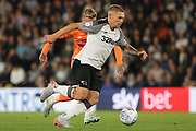 Derby County forward Martyn Waghorn runs at goal during the EFL Sky Bet Championship match between Derby County and Cardiff City at the Pride Park, Derby, England on 13 September 2019.