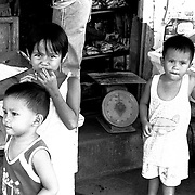 Tondo neighborhood in Manila, The Philippines.