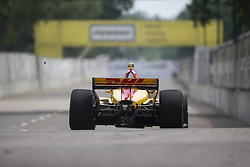 June 1, 2018 - Detroit, Michigan, United States of America - RYAN HUNTER-REAY (28) of the United States takes to the track for a practice session for the Detroit Grand Prix at Belle Isle Street Course in Detroit, Michigan. (Credit Image: © Stephen A. Arce/ASP via ZUMA Wire)