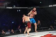 MMA: German MMA Championship, GMC, Hamburg, 07.01.207<br /> Martin Zwada (UFD Gym) - Andreas Kraniotakes (Combat Club Cologne)<br /> © Torsten Helmke