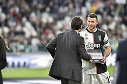 May 19, 2019 - Turin, Turin, Italy - Andrea Agnelli,Andrea Barzagli of Juventus FC during the Serie A match at Allianz Stadium, Turin (Credit Image: © Antonio Polia/Pacific Press via ZUMA Wire)