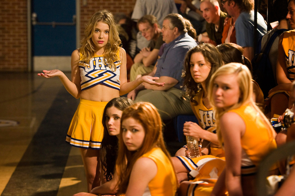 Ashley Benson as Brooke Tippit and other members of the Fab Five in the Lifetime Original Movie 'Fab Five: The Texas Cheerleader Scandal.'