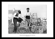 This shot of Irish workers repairing and making lobster pots is taken by Lensmen Photographic Agency. If you look for unique gifts old Irish photos are always a great idea.