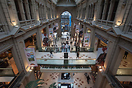 In one of the elegant shopping arcades of the city