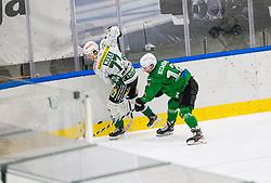 12# Simsic Nik of HK SZ Olimpija during the match of Alps Hockey League 2020/21 between HK SZ Olimpija Ljubljana vs. EC Bregenzerwald, on 09.01.2021 in Hala Tivoli in Ljubljana, Slovenia. Photo by Urban Meglič / Sportida