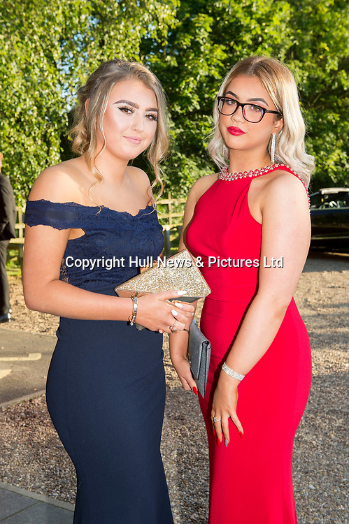 27 June 2019: Somercotes Academy Year 11 prom at the Brackenborough Hotel near Louth.<br /> (l-r) Courtney Backhouse and Sapphire Wane.<br /> Picture: Sean Spencer/Hull News & Pictures Ltd<br /> 01482 210267/07976 433960<br /> www.hullnews.co.uk         sean@hullnews.co.uk