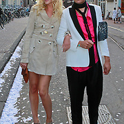 NLD/Amsterdam/20110630 - Uitreiking Jackie's Bachelor List 2011, Kimberly Klaver en stylist Nicolas Boyer