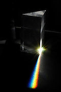 Light spectrum reflected through a prism