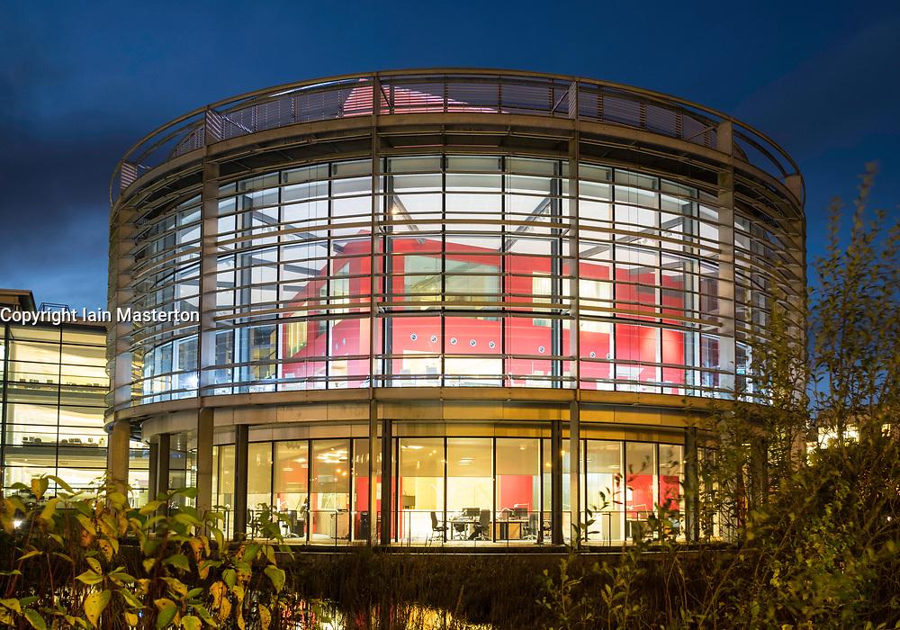 Headquarters of BT in Edinburgh Park business district of Edinburgh, Scotland, United Kingdom