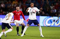 Fotball , 11. august 2010 , Privatkamp<br /> Norge - Frankrike 2-1<br /> Norway - France 2-1<br /> <br /> Guillaume Hoarau , Frankrike<br /> Kjetil Wæhler , Norge