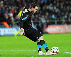 Adam Collin of Notts County in action - Mandatory by-line: Nizaam Jones/JMP - 06/02/2018 - FOOTBALL - Liberty Stadium - Swansea, Wales - Swansea City v Notts County - Emirates FA Cup fourth round proper