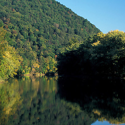 Kent, CT. The Housatonic River in the Litchfield Hills of western Connecticut.