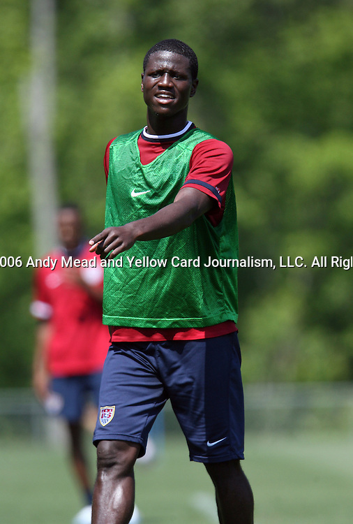 Eddie Johnson on Wednesday, May 17th, 2006 at SAS Soccer Park in Cary, North Carolina. The United States Men's National Soccer Team held a training session as part of their preparations for the upcoming 2006 FIFA World Cup Finals being held in Germany.