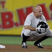NEW YORK, NEW YORK - July 17: Brett Gardner #11 of the New York Yankees at second base during the Boston Red Sox Vs New York Yankees regular season MLB game at Yankee Stadium on July 17, 2016 in New York City. (Photo by Tim Clayton/Corbis via Getty Images)