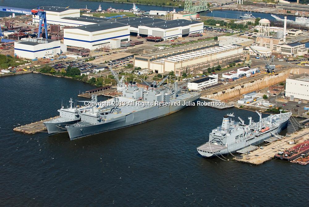 Aerial views of Philadelphia Shipyard