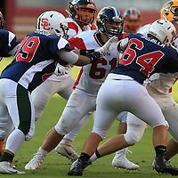 (Photograph by Bill Gerth/ for SVCN/6/24/17) Branham #61 Gavin Rodinsky works the trenchs in the Charie Wedemeyer All Star Game at Levi Stadium, San Jose CA on 6/24/17. (North 13 South 13)