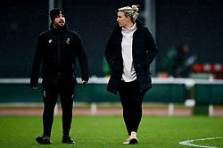 Tanya Oxtoby talks with Marco Chiavetta prior to kick off - Mandatory by-line: Ryan Hiscott/JMP - 08/12/2019 - FOOTBALL - Stoke Gifford Stadium - Bristol, England - Bristol City Women v Birmingham City Women - Barclays FA Women's Super League