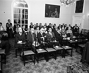 17/07/1970<br /> 07/17/1970<br /> 17 July 1970<br /> I.C.I. Press Conference regarding Paraquat weedkiller at the Royal Hibernian Hotel, Dublin. The conference was part of a campaign, in consultation with the Department of Health, to warn the public of the dangers of decanting the weedkiller into other containers such as unlabelled bottles. This had been the cause of a number of deaths over the previous 8 years as people mistook the chemical for beer, whiskey or cordial. The company planned to write to all 267,000 farmers in the Republic to warn of the dangers of the practice. Picture shows part of the attendance at the conference.