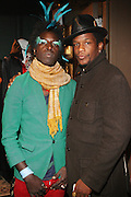 l to r: Saul Williams and Baron Claiborne at The Afro-Punk Tour featuring Saul Williams held at The Blender Theater on October 21, 2009