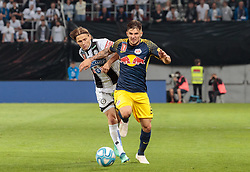 09.05.2018, Woerthersee Stadion, Klagenfurt, AUT, OeFB Uniqa Cup, SK Puntigamer Sturm Graz vs FC Red Bull Salzburg, Finale, im Bild Stefan Hierländer (SK Puntigamer Sturm Graz), Patrick Farkas (FC Red Bull Salzburg) // during the final match of the ÖFB Uniqa Cup between SK Puntigamer Sturm Graz and FC Red Bull Salzburg at the Woerthersee Stadion in Klagenfurt, Austria on 2018/05/09. EXPA Pictures © 2018, PhotoCredit: EXPA/ Johann Groder