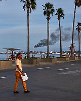 Oil Refinery Smoke. Afternoon Walkabout in Old Havana. Image taken with a Fuji X-T1 camera and various lenses.