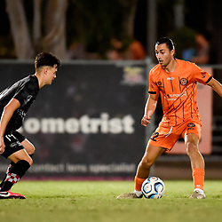 BRISBANE, AUSTRALIA - NOVEMBER 3: Anthony Poljak in action during the NPL Queensland Senior Mens Round 9 match between Eastern Suburbs FC and Gold Coast Knights at Heath Park on November 3, 2020 in Brisbane, Australia. (Photo by Patrick Kearney)