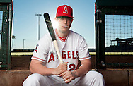 Infielder C.J. Cron poses during the Angels' Photo Day at Spring Training in Tempe, AZ on Tuesday, February 21, 2017. (Photo by Kevin Sullivan, Orange County Register/SCNG)