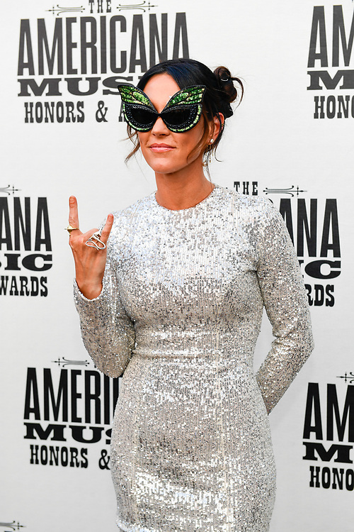 NASHVILLE, TENNESSEE - SEPTEMBER 11: Amanda Shires arrives at the 18th Annual Americana Honors & Awards at Ryman Auditorium on September 11, 2019 in Nashville, Tennessee. (Photo by Mickey Bernal/Getty Images)