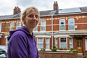 Debbie Ellen, who has been working with Carbon Co-op Manchester. They have helped her to retro fit her house bringing it from a G to a B energy rating.